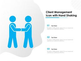 Client Management Icon With Hand Shaking