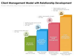 Client Management Model With Relationship Development