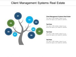Client Management Systems Real Estate Ppt Powerpoint Presentation Model Design Ideas Cpb