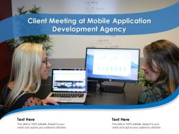 Client Meeting At Mobile Application Development Agency