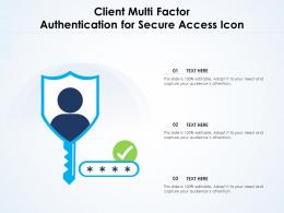 Client Multi Factor Authentication For Secure Access Icon