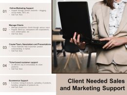 Client Needed Sales And Marketing Support
