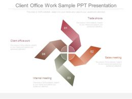 Client Office Work Sample Ppt Presentation