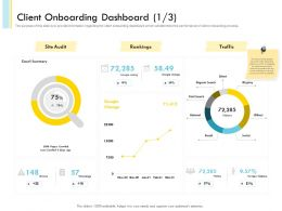 Client Onboarding Dashboard N459 Powerpoint Presentation Template
