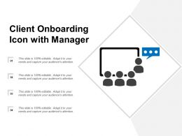 Client Onboarding Icon With Manager