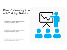Client Onboarding Icon With Training Statistics