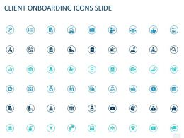 Client Onboarding Icons Slide Ppt Powerpoint Presentation Pictures Influencers