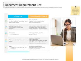 Client Onboarding Process Automation Document Requirement List Ppt Powerpoint Microsoft