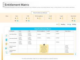 Client Onboarding Process Automation Entitlement Matrix Ppt Powerpoint Presentation Rules