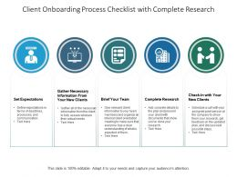 Client Onboarding Process Checklist With Complete Research