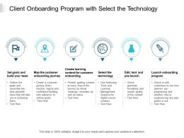 Client Onboarding Program With Select The Technology