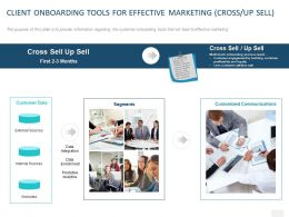 Client Onboarding Tools For Effective Marketing Cross Up Sell Ppt Powerpoint Presentation Styles