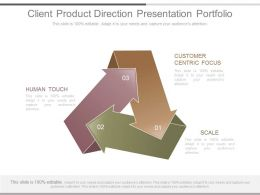 Client Product Direction Presentation Portfolio