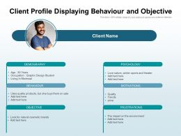 Client Profile Displaying Behaviour And Objective