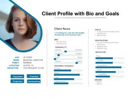 Client Profile With Bio And Goals