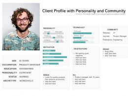 Client Profile With Personality And Community