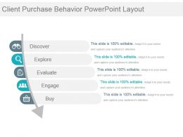 Client Purchase Behavior Powerpoint Layout