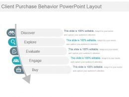 Client Purchase Behavior Powerpoint Layout