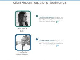 Client Recommendations Testimonials Powerpoint Slide Download