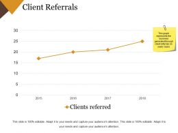 Client Referrals Example Of Ppt Presentation