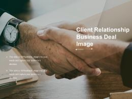 Client Relationship Business Deal Image