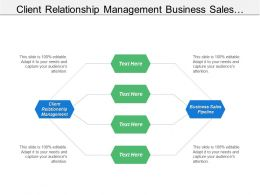 Client Relationship Management Business Sales Pipeline Marketing Segmentation Cpb