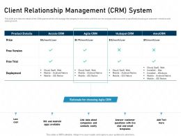 Client Relationship Management CRM System IOS Native Powerpoint Presentation Skills