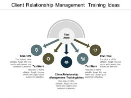 Client Relationship Management Training Ideas Ppt Powerpoint Presentation Slides Deck Cpb