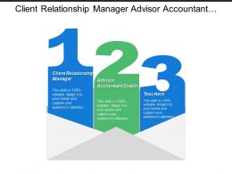 Client Relationship Manager Advisor Accountant Coach Market Strategy