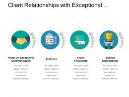 Client Relationships With Exceptional Communication And Sharing Knowledge