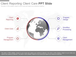 Client Reporting Client Care Ppt Slide