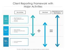 Client Reporting Framework With Major Activities