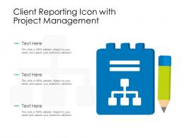 Client Reporting Icon With Project Management