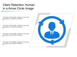 Client Retention Human In A Arrow Circle Image