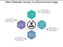 Client Retention Human In A Round Arrow Image