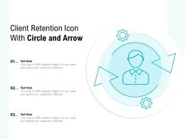 Client Retention Icon With Circle And Arrow