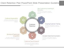Client Retention Plan Powerpoint Slide Presentation Guidelines