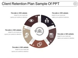 Client Retention Plan Sample Of Ppt