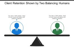 Client Retention Shown By Two Balancing Humans