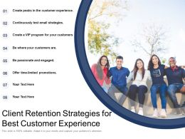 Client Retention Strategies For Best Customer Experience