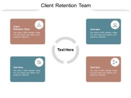 Client Retention Team Ppt Powerpoint Presentation Portfolio Background Cpb