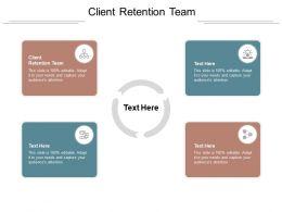 Client Retention Team Ppt Powerpoint Presentation Portfolio Background Cpb