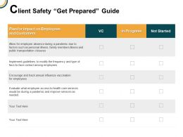 Client Safety Get Prepared Guide In Progress Transportation Ppt Powerpoint Presentation Gallery Vector