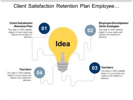 Client Satisfaction Retention Plan Employee Development Skills Strategies Cpb