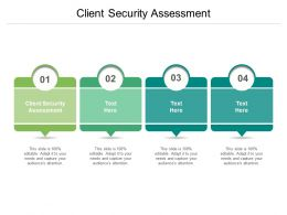 Client Security Assessment Ppt Powerpoint Presentation Summary Information Cpb