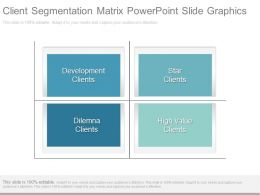 Client Segmentation Matrix Powerpoint Slide Graphics