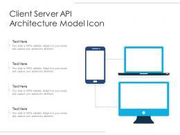 Client Server API Architecture Model Icon