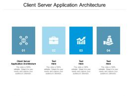 Client Server Application Architecture Ppt Powerpoint Presentation Visual Aids Show Cpb