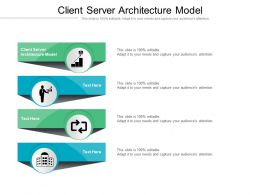 Client Server Architecture Model Ppt Powerpoint Presentation Icon Microsoft Cpb