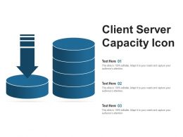 Client Server Capacity Icon